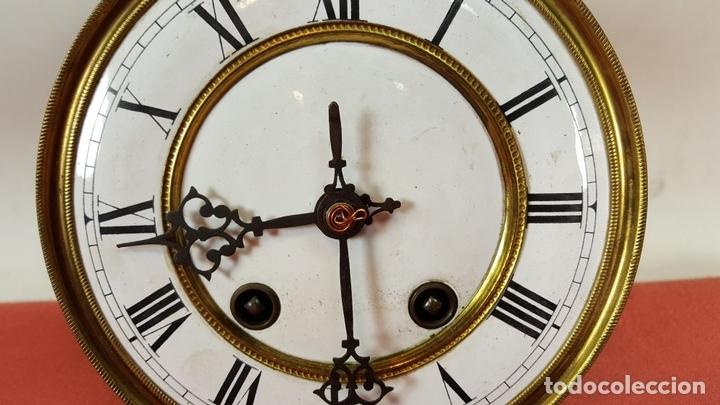 Relojes de pared: RELOJ DE PARED. MUEBLE EN MADERA DE NOGAL. CARL WERNER. ALEMANIA. SIGLO XIX. - Foto 20 - 62578452