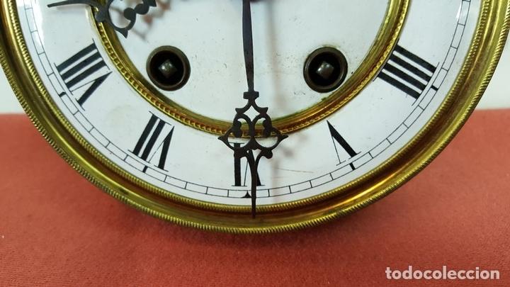 Relojes de pared: RELOJ DE PARED. MUEBLE EN MADERA DE NOGAL. CARL WERNER. ALEMANIA. SIGLO XIX. - Foto 21 - 62578452
