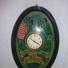 Relojes de pared: RELOJ GRANDE DE PARED MADE IN FRANCE, HAND MADE. MADERA .UNICA COPIA. Lote 62754680