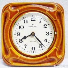 Relojes de pared: RELOJ ALEMÁN DE CERÁMICA. Lote 63887255