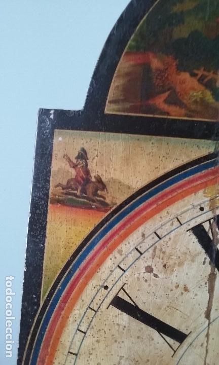 Relojes de pared: RELOJ TIPO RATERA SIGLO XVIII, CON PESAS FORMA DE PIÑA Y PENDULO SELLO MARCA DE FABRICA - Foto 5 - 68374473