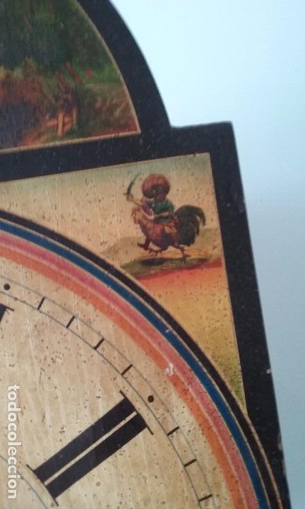 Relojes de pared: RELOJ TIPO RATERA SIGLO XVIII, CON PESAS FORMA DE PIÑA Y PENDULO SELLO MARCA DE FABRICA - Foto 6 - 68374473