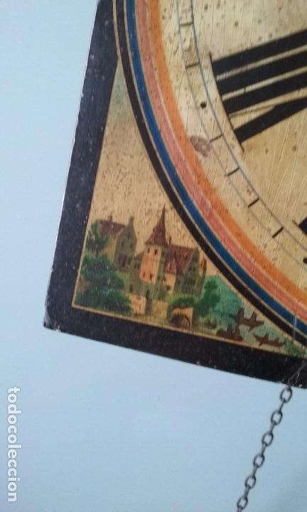Relojes de pared: RELOJ TIPO RATERA SIGLO XVIII, CON PESAS FORMA DE PIÑA Y PENDULO SELLO MARCA DE FABRICA - Foto 7 - 68374473