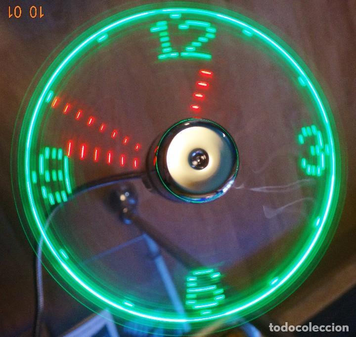 RELOJ LED MULTICOLOR USB LÁSER FLOTANTE + VENTILADOR (Relojes - Pared Carga Manual)