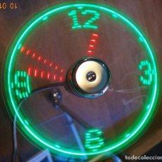 Relojes de pared: RELOJ LED MULTICOLOR USB LÁSER FLOTANTE + VENTILADOR. Lote 69891057