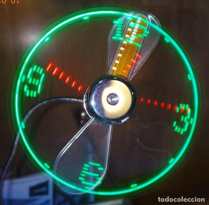 Relojes de pared: RELOJ LED MULTICOLOR USB LÁSER FLOTANTE + VENTILADOR - Foto 3 - 69891057