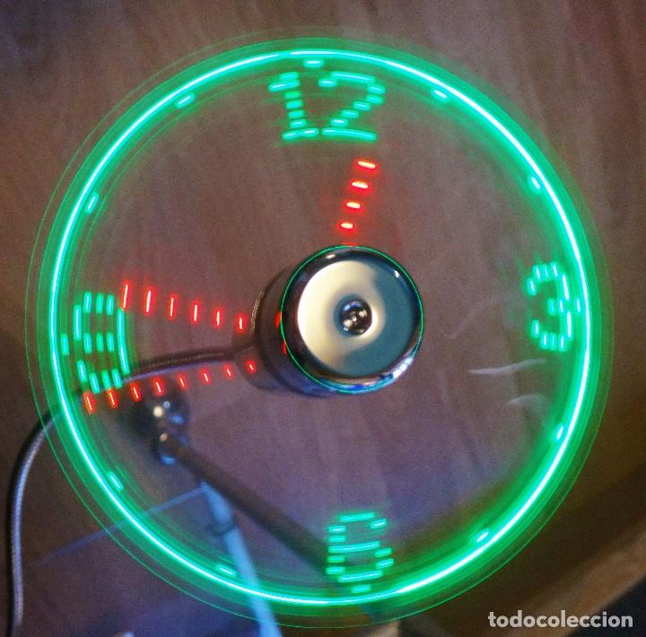 Relojes de pared: RELOJ LED MULTICOLOR USB LÁSER FLOTANTE + VENTILADOR - Foto 12 - 69891057