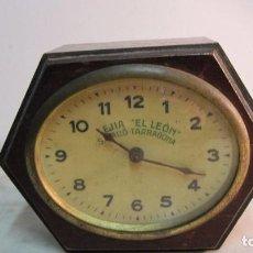 Relojes de pared: RELOJ DE PUBLICIDAD LEJIA LEÓN TARRAGONA. Lote 69893509