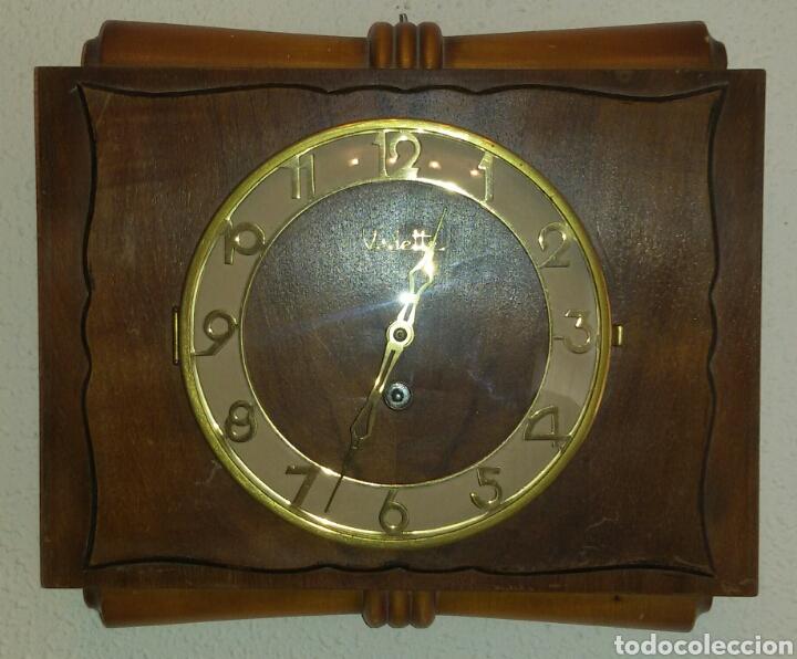 Relojes de pared: Antiguo Reloj Pared Vedette a Cuerda. - Foto 2 - 71947437