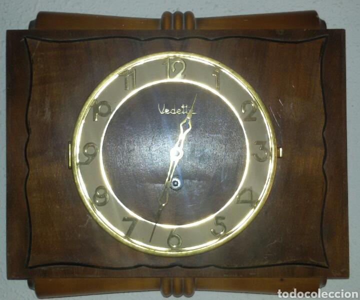 Relojes de pared: Antiguo Reloj Pared Vedette a Cuerda. - Foto 5 - 71947437