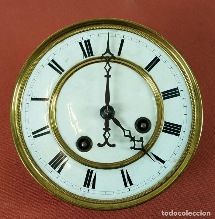 Relojes de pared: RELOJ DE PARED. MUEBLE EN MADERA. MAQUINARIA PARIS. SIGLO XIX-XX. - Foto 4 - 72209779