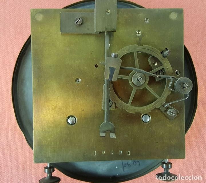 Relojes de pared: RELOJ DE PARED. MUEBLE EN MADERA. MAQUINARIA PARIS. SIGLO XIX-XX. - Foto 5 - 72209779