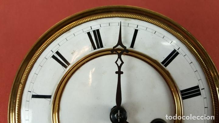 Relojes de pared: RELOJ DE PARED. MUEBLE EN MADERA. MAQUINARIA PARIS. SIGLO XIX-XX. - Foto 7 - 72209779