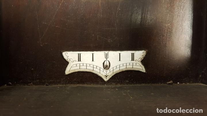Relojes de pared: RELOJ DE PARED. MUEBLE EN MADERA. MAQUINARIA PARIS. SIGLO XIX-XX. - Foto 18 - 72209779
