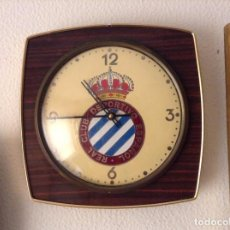 Relojes de pared: RELOJ PARED REAL CLUB DEPORTIVO ESPAÑOL - ESPANYOL (FUNCIONA PERFECTAMENTE). Lote 72354631