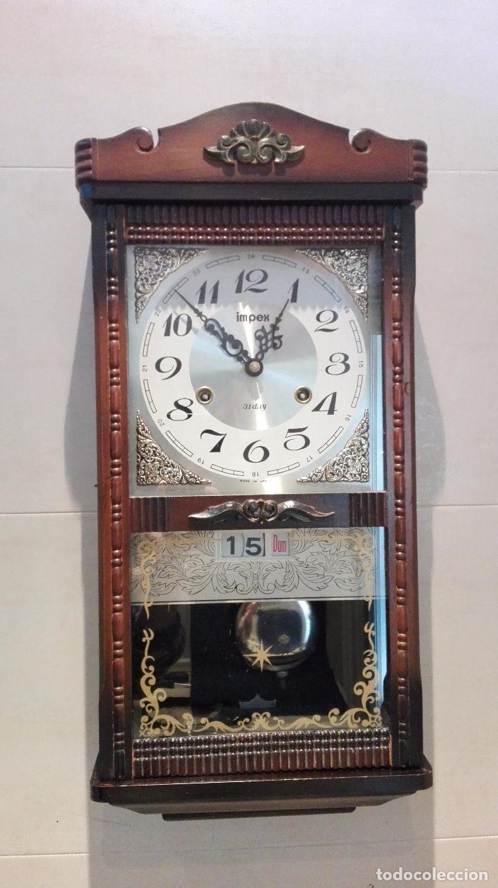 Antiguo reloj de pared impex japones 31 day a c comprar relojes antiguos de pared carga manual - Relojes pared antiguos ...
