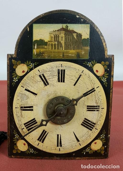 Relojes de pared: RATERA O RELOJ DE PARED DE FORMATO PEQUEÑO. MADERA POLICROMADA. ALEMANIA? SIGLO XIX - Foto 3 - 72852035