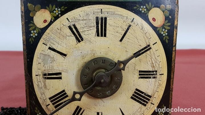 Relojes de pared: RATERA O RELOJ DE PARED DE FORMATO PEQUEÑO. MADERA POLICROMADA. ALEMANIA? SIGLO XIX - Foto 11 - 72852035