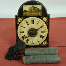 Relojes de pared: RATERA O RELOJ DE PARED DE FORMATO PEQUEÑO. MADERA POLICROMADA. ALEMANIA? SIGLO XIX. Lote 72852035