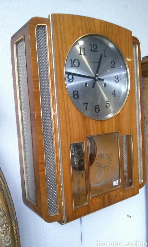 Relojes de pared: RELOJ DE PARED años 70 - Foto 3 - 77877377