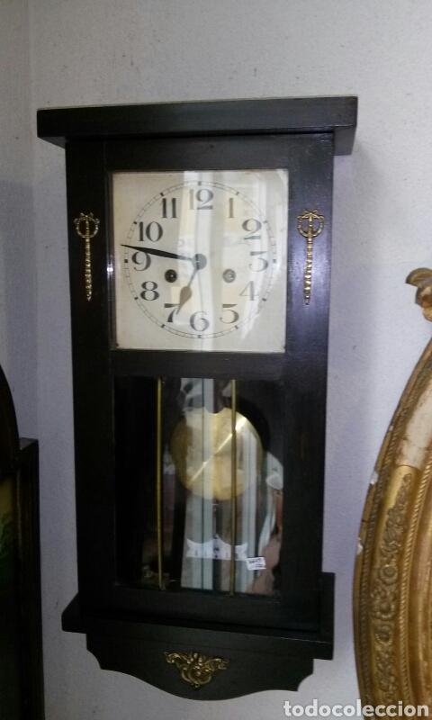 ANTIGUO RELOJ DE PARED, PRINCIPIOS SIGLO XX (Relojes - Pared Carga Manual)