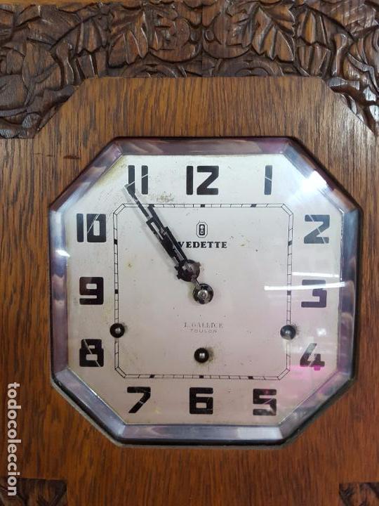 Relojes de pared: Reloj de pared modernista con sonreía principios siglo 20 - Foto 2 - 80072885