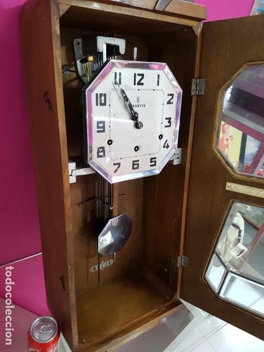 Relojes de pared: Reloj de pared modernista con sonreía principios siglo 20 - Foto 5 - 80072885