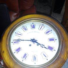 Relojes de pared: RELOJ DE PARED CAJA DE MADERA. Lote 80242695