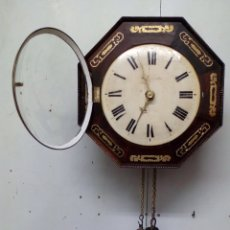 Relojes de pared: RELOJ SELVA NEGRA OCTOGONAL PARA EL MERCADO INGLÉS SIGLO XVIII (RECIEN RESTAURADO). Lote 80287713