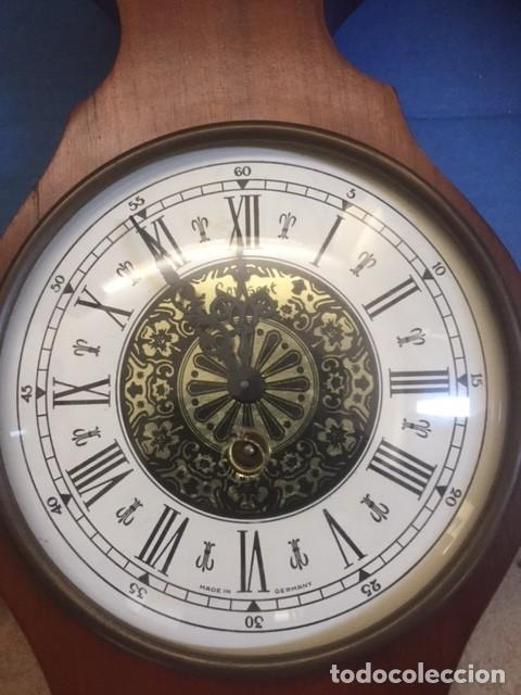 RELOJ DE CUERDA ALEMAN PERFECTO ,MAS ESTACION BAROMETRICA EN MADERA NOBLE VER FOTOS (Relojes - Pared Carga Manual)