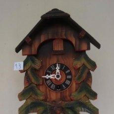 Relojes de pared: ANTIGUO RELOJ ALEMÁN DE BALANCÍN. TIPO CUCO. CON LLAVE. ( 13 ). Lote 80731934