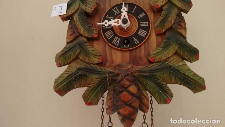 Relojes de pared: Antiguo reloj alemán de balancín. Tipo Cuco. Con llave. ( 13 ) - Foto 2 - 80731934