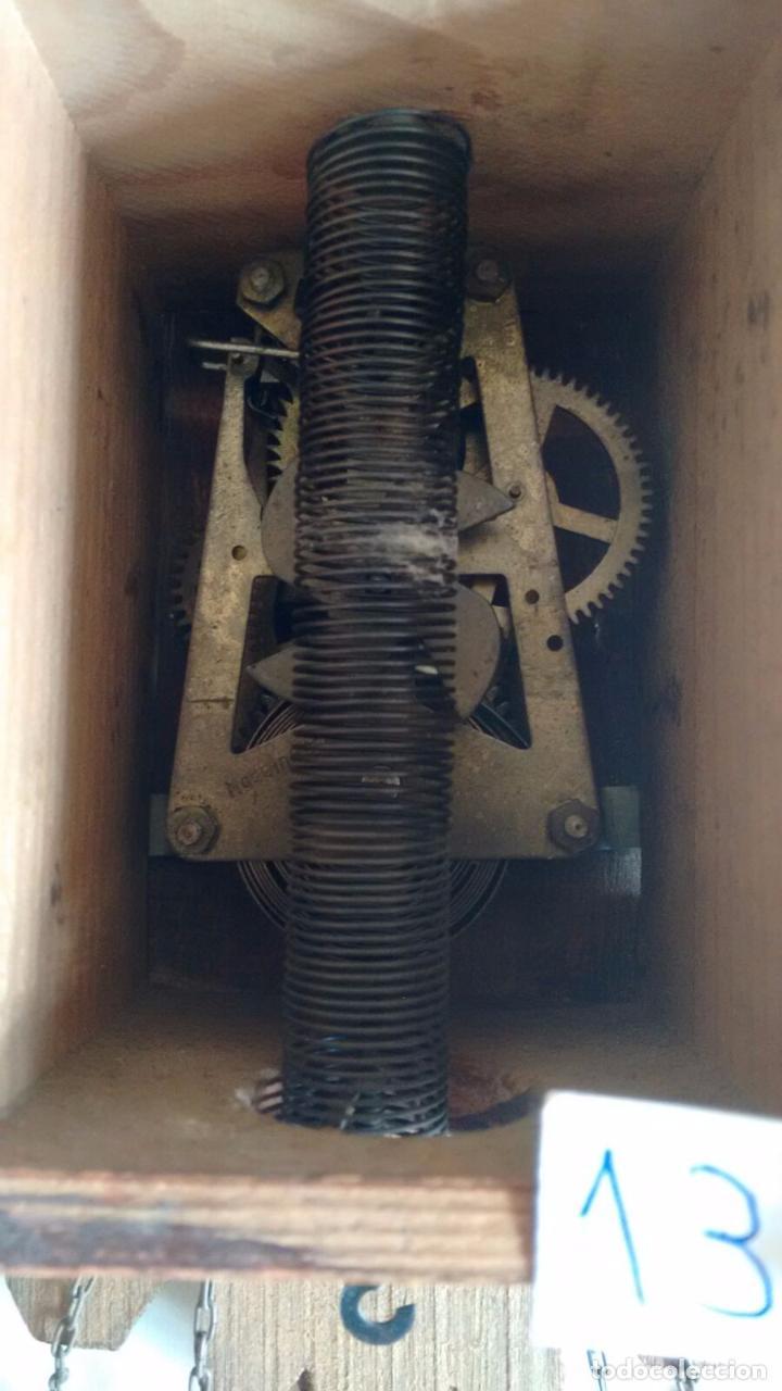 Relojes de pared: Antiguo reloj alemán de balancín. Tipo Cuco. Con llave. ( 13 ) - Foto 4 - 80731934