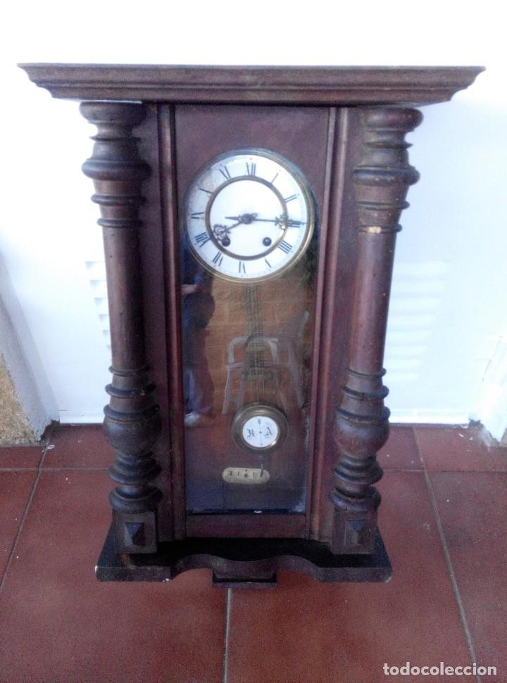 Relojes de pared: ANTIGUO RELOJ ISABELINO DE LA FIRMA CARL WERNER - Foto 2 - 81853544