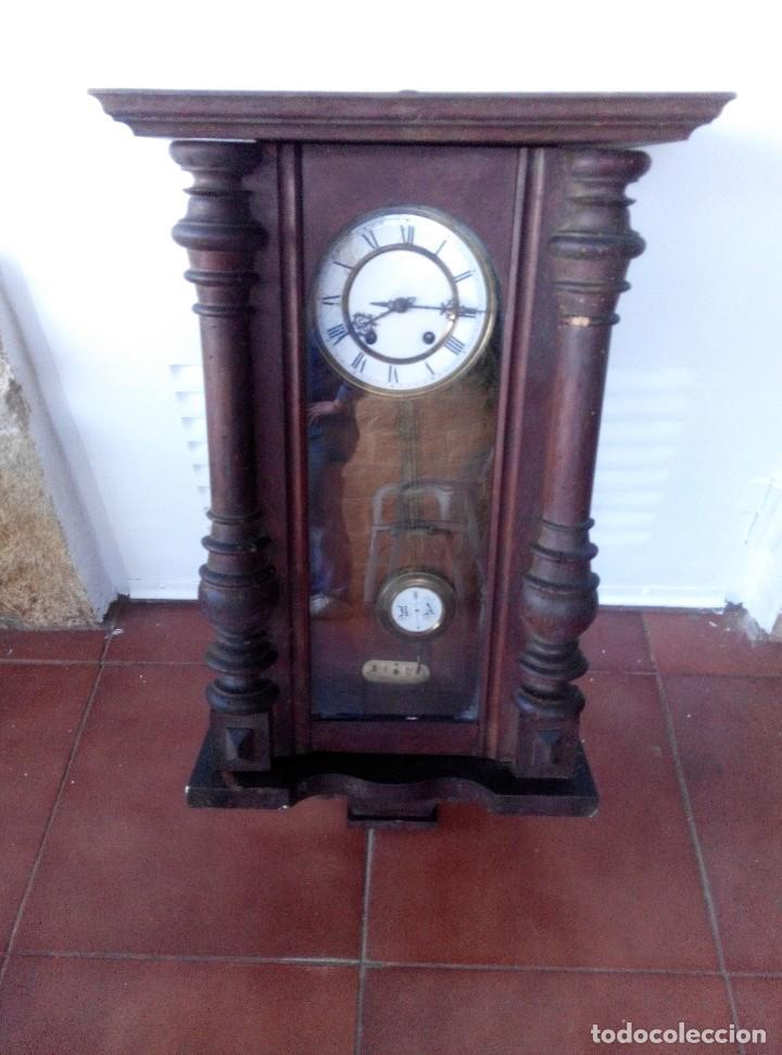 Relojes de pared: ANTIGUO RELOJ ISABELINO DE LA FIRMA CARL WERNER - Foto 3 - 81853544
