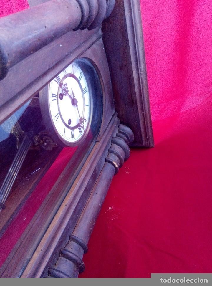Relojes de pared: ANTIGUO RELOJ ISABELINO DE LA FIRMA CARL WERNER - Foto 5 - 81853544