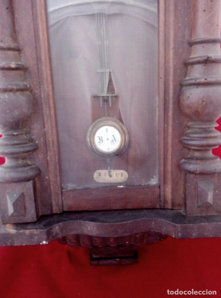 Relojes de pared: ANTIGUO RELOJ ISABELINO DE LA FIRMA CARL WERNER - Foto 8 - 81853544