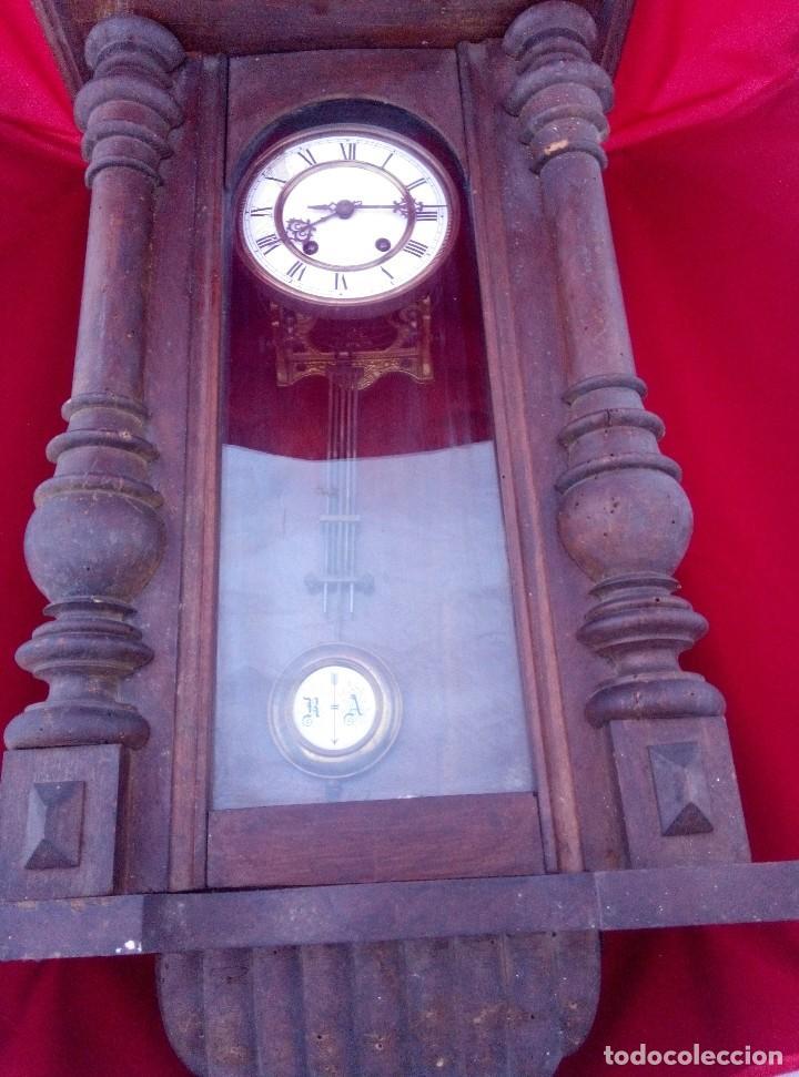 Relojes de pared: ANTIGUO RELOJ ISABELINO DE LA FIRMA CARL WERNER - Foto 9 - 81853544
