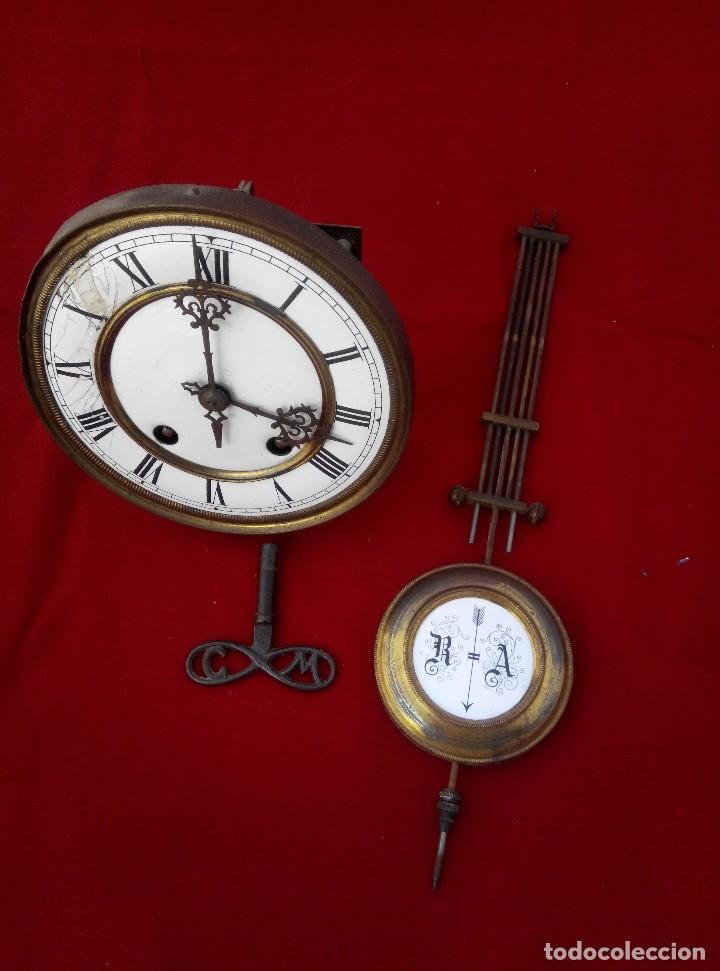 Relojes de pared: ANTIGUO RELOJ ISABELINO DE LA FIRMA CARL WERNER - Foto 10 - 81853544