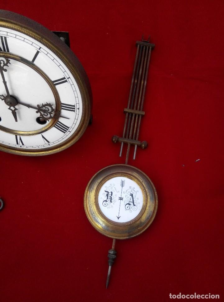 Relojes de pared: ANTIGUO RELOJ ISABELINO DE LA FIRMA CARL WERNER - Foto 11 - 81853544