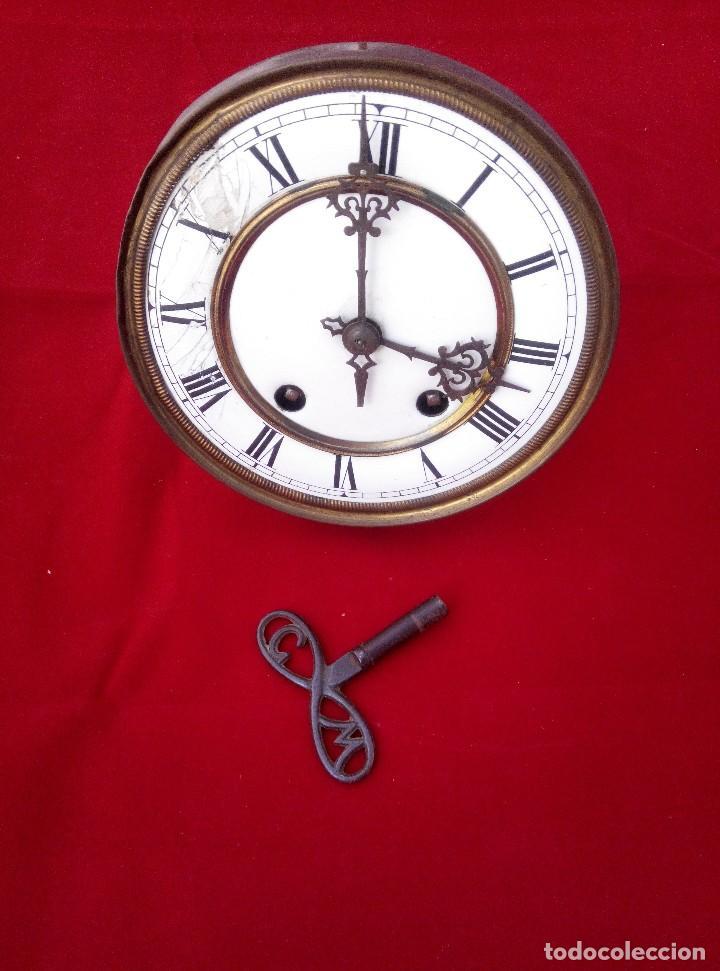 Relojes de pared: ANTIGUO RELOJ ISABELINO DE LA FIRMA CARL WERNER - Foto 12 - 81853544