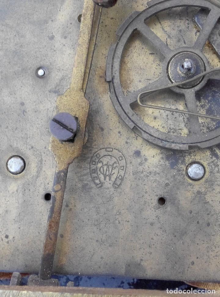 Relojes de pared: ANTIGUO RELOJ ISABELINO DE LA FIRMA CARL WERNER - Foto 17 - 81853544