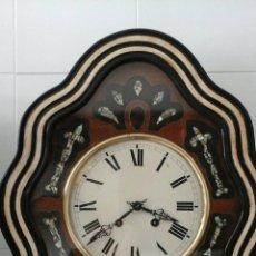Relojes de pared: ANTIGUO RELOJ OJO DE BUEY ISABELINO AÑO 1880 RECIEN PUESTO A PUNTO POR UNO DE LOS MEJORES RELOJEROS. Lote 82843688