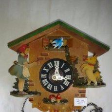 Relojes de pared: CAJA Y ACCESORIOS DE RELOJ DE PARED DE BALANCÍN. ( 30 ). Lote 83221040