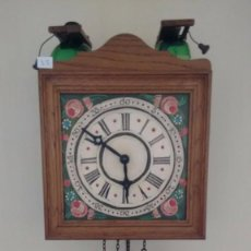 Relojes de pared: ANTIGUO RELOJ DE PESAS. CAMPANAS DE CRISTAL. MADE IN GERMANY. ( 35 ). Lote 83543656
