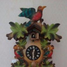 Relojes de pared: ANTIGUO RELOJ DE CUCO. CON PÉNDULO FRONTAL. MADE IN GERMANY. ( 36 BIS ). Lote 83653496