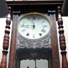 Relojes de pared: RELOJ DE PARED ANTIGUO 1910 AMERICANO MARCA ANGLO JEROME & CO FUNCIONANDO VER FOTOS. Lote 83912736