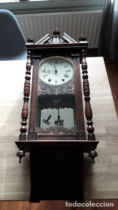 Relojes de pared: RELOJ DE PARED ANTIGUO 1910 AMERICANO MARCA ANGLO JEROME & CO FUNCIONANDO VER FOTOS - Foto 2 - 83912736