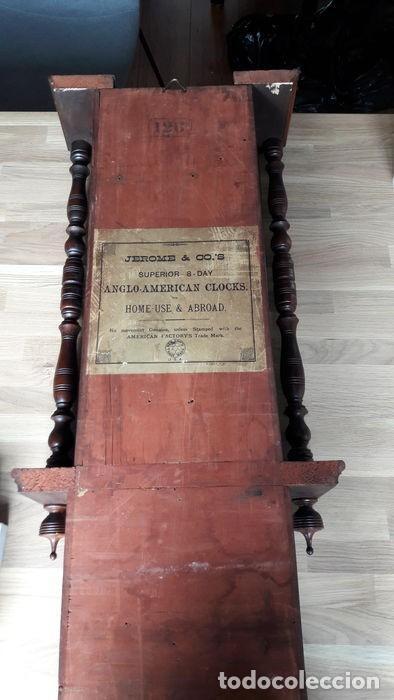 Relojes de pared: RELOJ DE PARED ANTIGUO 1910 AMERICANO MARCA ANGLO JEROME & CO FUNCIONANDO VER FOTOS - Foto 3 - 83912736