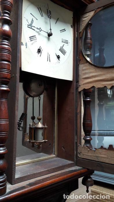 Relojes de pared: RELOJ DE PARED ANTIGUO 1910 AMERICANO MARCA ANGLO JEROME & CO FUNCIONANDO VER FOTOS - Foto 4 - 83912736
